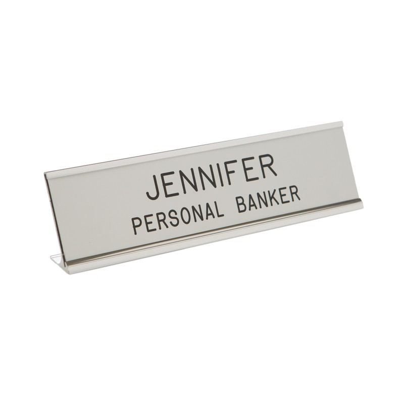 Desk Nameplate With Frame - 8W x 2H - 2 Line