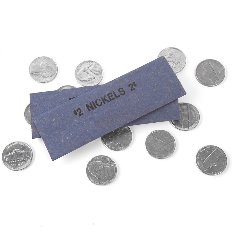 Nickel Coin Wrappers - Flat