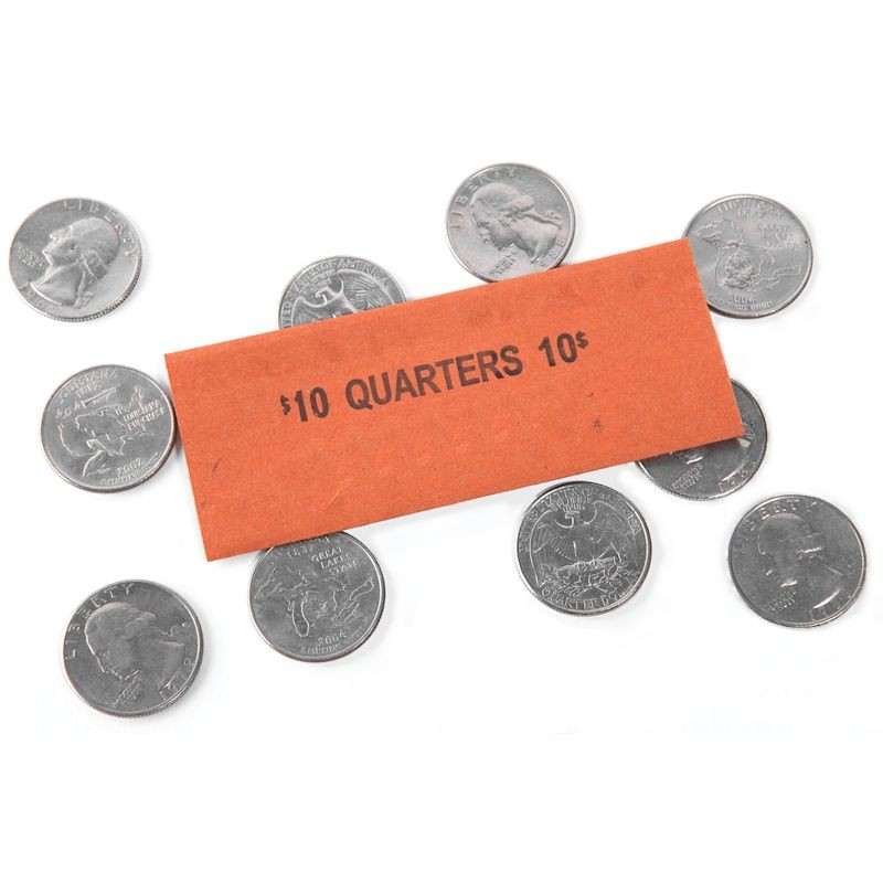 Quarter Coin Wrappers - Flat