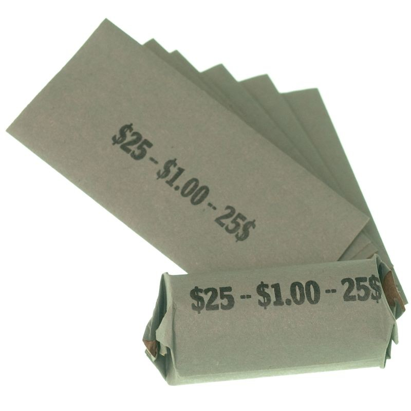SBA Dollar / Loonie Dollar Coin Wrappers - Flat