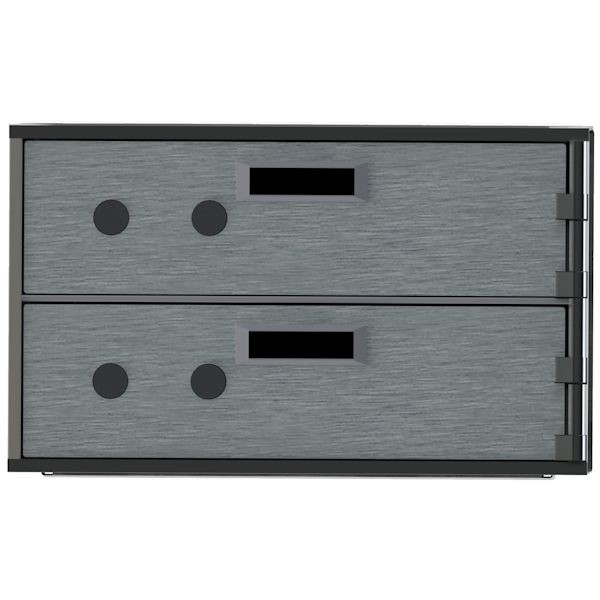 Safe Deposit Boxes-Two 3Hx10W boxes, Right hinge