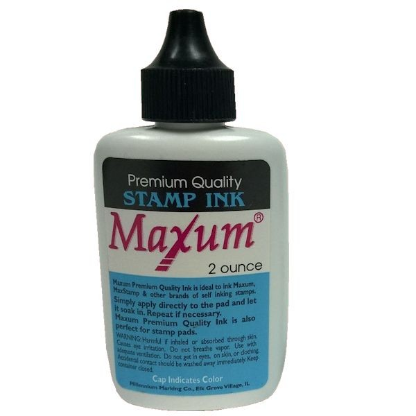 Black 2 oz Maxum Stamp Ink