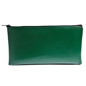 Forest Green Zipper Bag - 11W x 6H - Expanded Vinyl