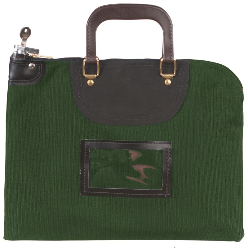 Forest Green Fire Resistant Locking Bag - 15W x 11H