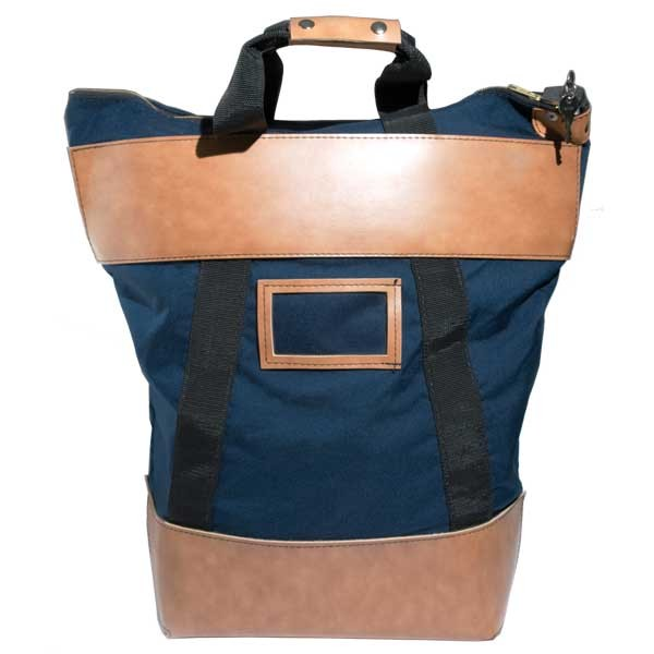 9W x 16H x 7D (16W at top) Courier Bags - Navy Blue - Stock