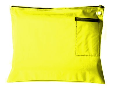 Yellow 14Wx11H Large Zipper Bag