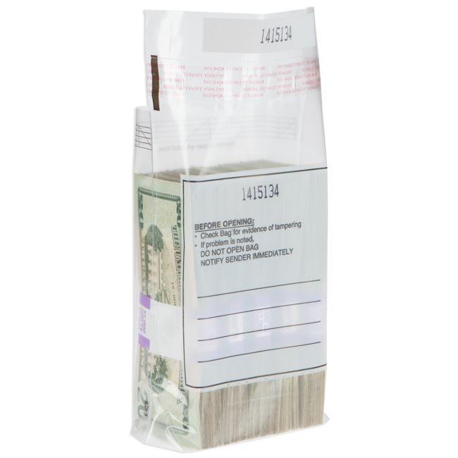 Five Strap / 500 Note Currency Strap Bags - 2000/case