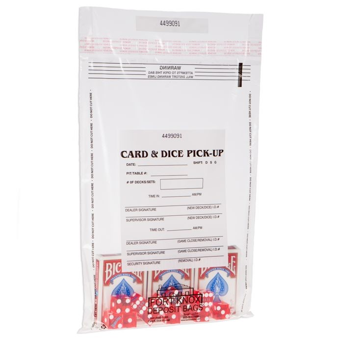 10W x 14H Card and Dice Pick-Up Bags - 1000/CS