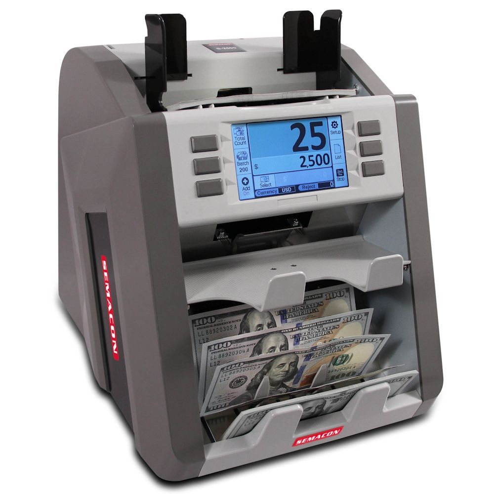 Semacon S-2500 Bank Grade Two Pocket Currency Discriminator