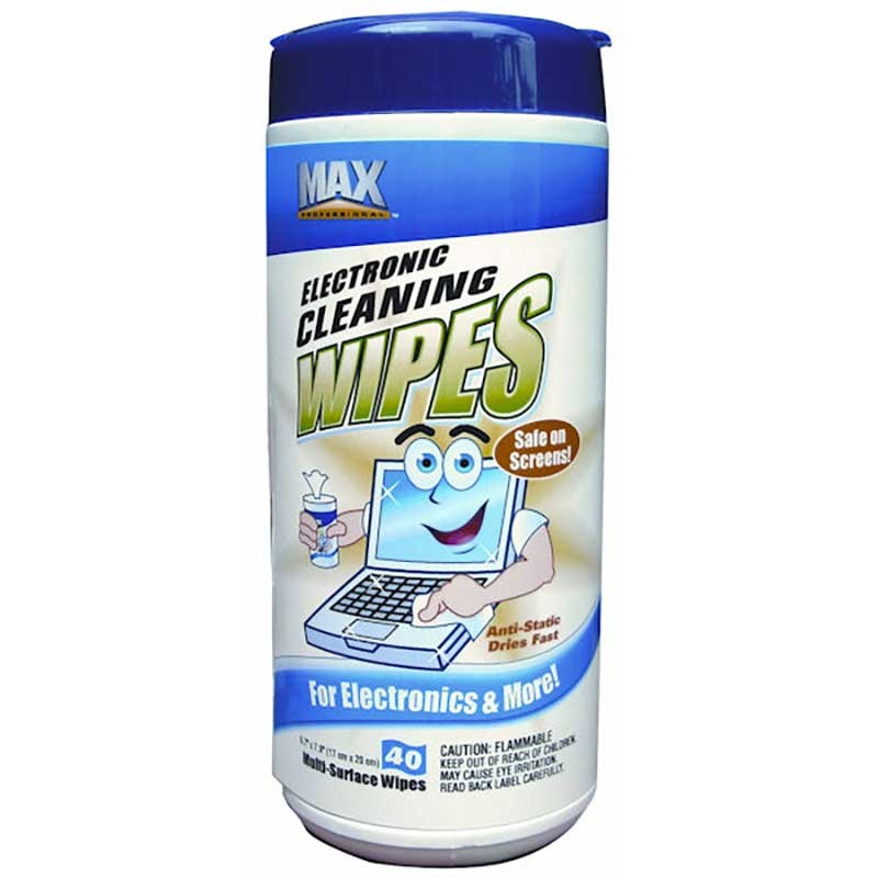 CASE OF 12 Electronic Wipes Cannisters