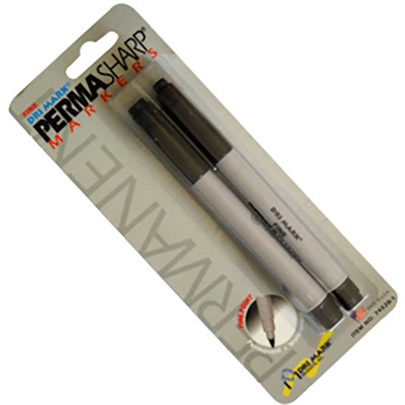 Permasharp Markers - Black - Pack of two pens