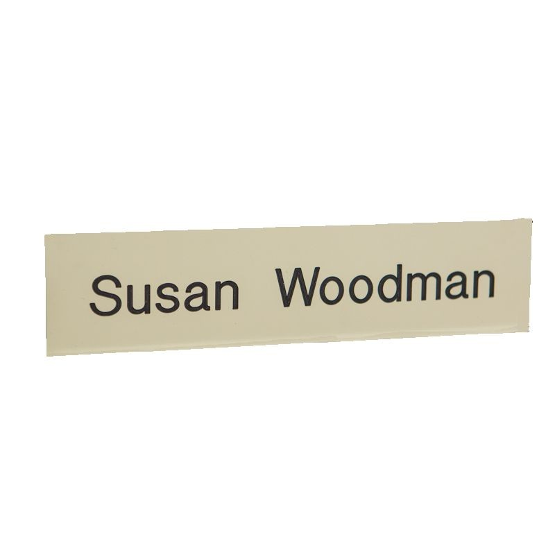 8W x 2H Nameplate with 1 Line of Copy