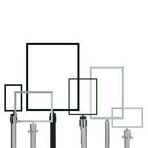 HEAVY DUTY Post Mount Frame 11Wx14H Vertical POLISHED CHRO