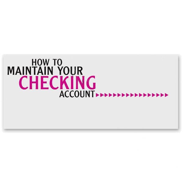 How to Maintain Your Checking Account Booklet