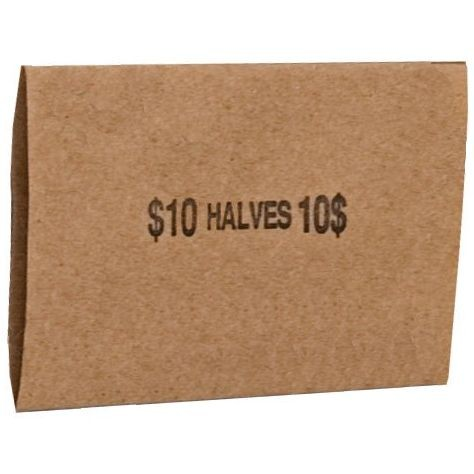 Half Dollar Coin Wrappers - Flat - Case of 16,000