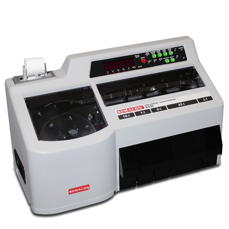 Semacon S-530 Coin Counter w/Built-In Thermal Printer