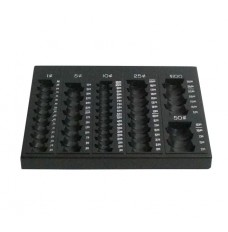 Self Counting Loose Coin Tray - Countex II Black - 1 Piece