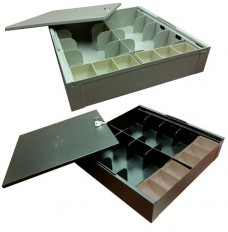 Metal Money Tray and Locking Lid - 15W x 3-1/2H x 15D