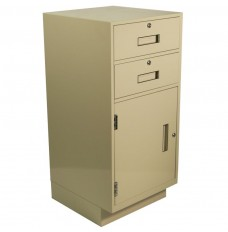 Silverline Teller Pedestal w/Locking 2-Drawers and Door