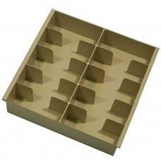 Plastic Cash Trays - 10 Cash Compartments - 15W x 3-1/2H x 15D