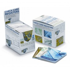 Generic Check Card Register assortment of 4 cover designs