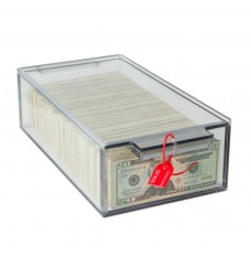 Clear Locking Currency Tray, 2000 Note, 13Lx7-3/4Wx3-3/4H