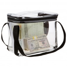10W x 8H x 5D Clear Vinyl Briefcase Style Bag - Made to Order