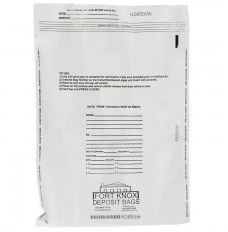 12W x 16H White Tamper Evident Deposit Bags
