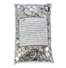 9W x 14H Jetsort Coin Bags with White Block
