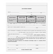 Loan Extension Agreement 6-1/2x7, pack of 100 Triplicate