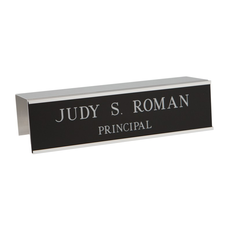 Cubicle Nameplate With Frame - 10W x 2H - 2 Line