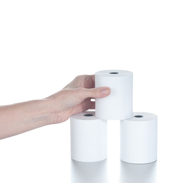 3-1/8in x 230ft White Thermal Paper Rolls