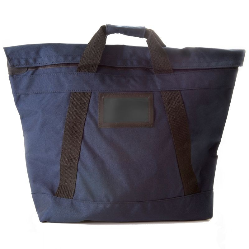 18W x 18H x 7D Navy Blue Fire Resistant Locking Bag - Stock