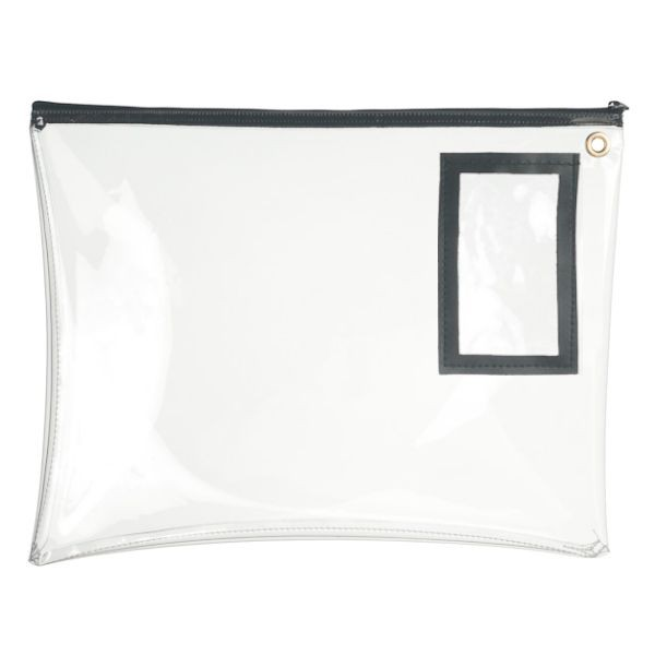 12W x 9H Clear Vinyl Large Zipper Bag - Stock