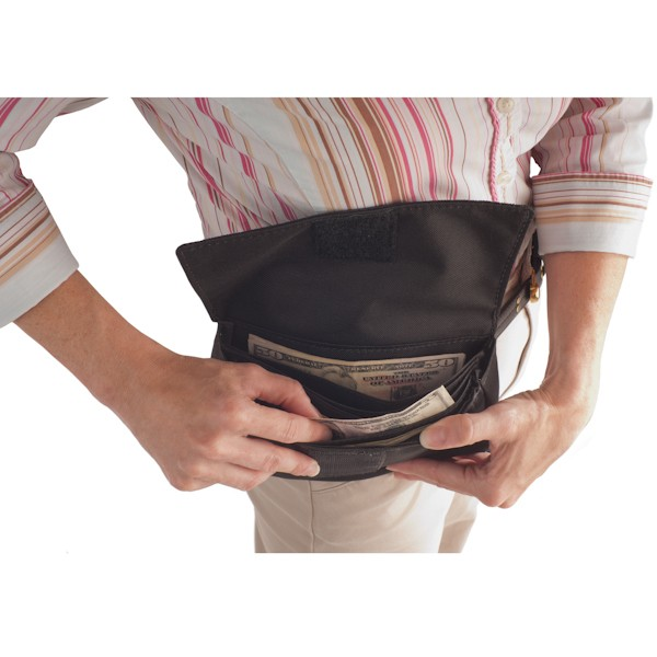 8W x 4H Belt Wallet Pouch with Hook & Loop Closure - Stock